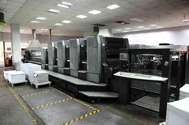 海德堡对开五色印刷机